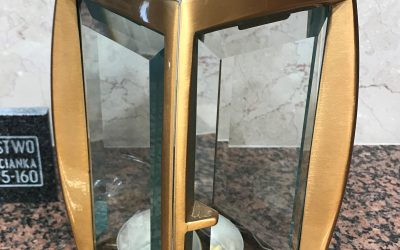 Lampion nagrobny mosiądz