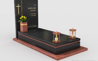 Nowoczesny nagrobek Premium Black/Balmoral n02b