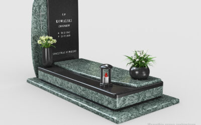 Nowoczesny nagrobek Olive Green/Premium Black n20b