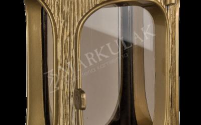 Złoty lampion z granitem
