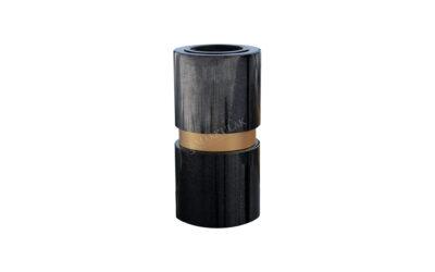 Ozdobny wazon ze złotą obręczą (we8)